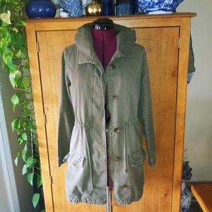 Love Tree Army Green Khaki Hooded Jacket